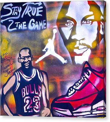 Truly Michael Jordan  Canvas Print by Tony B Conscious