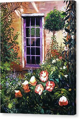 Tuscan Villa Garden Canvas Print by David Lloyd Glover