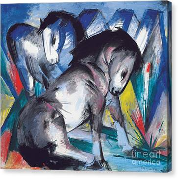 Two Horses Canvas Print by Franz Marc