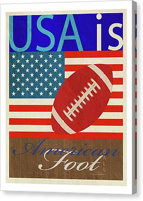 Usa Is American Football Canvas Print by Joost Hogervorst