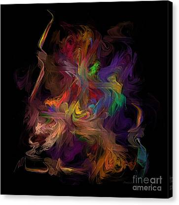 Abstract Art On Canvas Print -  Veils Of Many Colors by Madeline  Allen - SmudgeArt