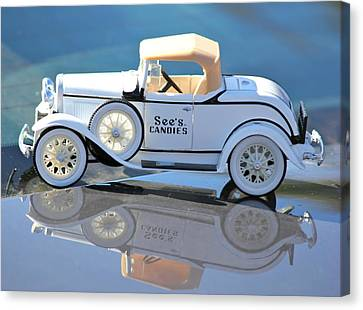 Canvas Print featuring the photograph  Vintage Car by Lorna Maza