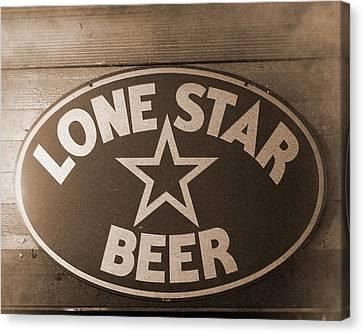 Vintage Sign Lone Star Beer Canvas Print
