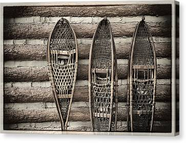 Vintage Snow Shoes Canvas Print by Carter Jones
