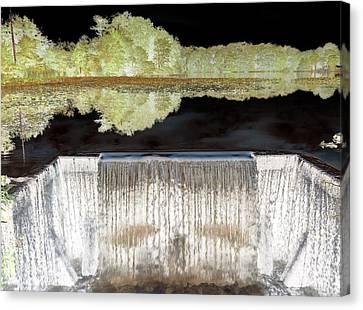 Waterfall 1 Canvas Print by Dietrich ralph  Katz