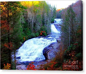 Waterfall At Dupont Forest Nc 2 Canvas Print by Annie Zeno