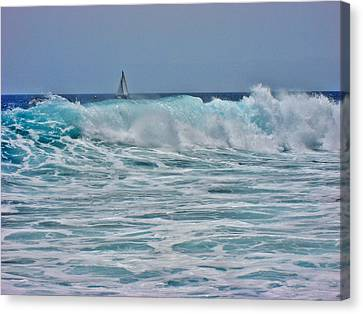 Wave And Sail. Canvas Print by Andy Za