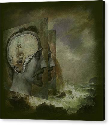 When A Man's Thoughts Turn Toward The Sea Canvas Print