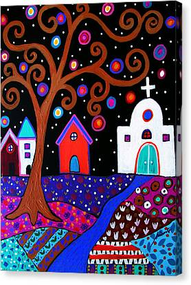 Whimsical Town Canvas Print by Pristine Cartera Turkus