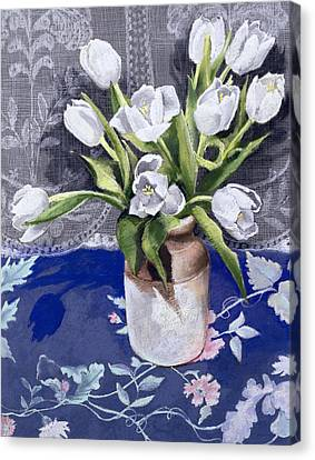 White Tulips Canvas Print by Cristiana Angelini