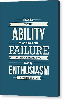 Winston Churchill British Politician Typography Quote Poster Canvas Print