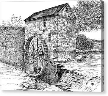 Wolf Pen Mill Canvas Print by Robert Powell