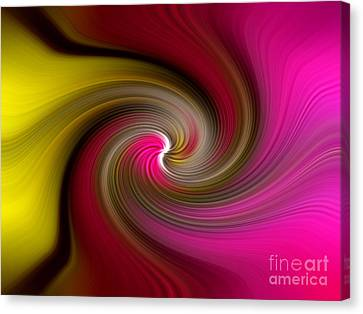 Yellow Into Pink Swirl Canvas Print