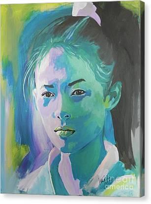 Zhang-ziyi Canvas Print by Jolanta Shiloni