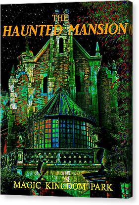 Haunted Mansion Poster Work A Canvas Print by David Lee Thompson