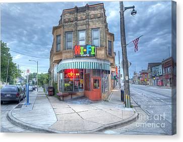 0040 Hi Fi Cafe Canvas Print by Steve Sturgill