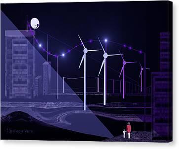 005 - Blue  Nightwalk Canvas Print