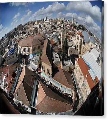 005 Globus Of Jerusalem Canvas Print by Alex Kolomoisky