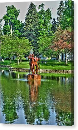 Buffalo Ny Canvas Print - 005 Reflecting At Forest Lawn by Michael Frank Jr