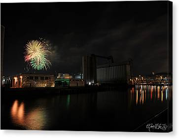 005 ...the Bombs Bursting In Air...4jul13 Series Canvas Print by Michael Frank Jr