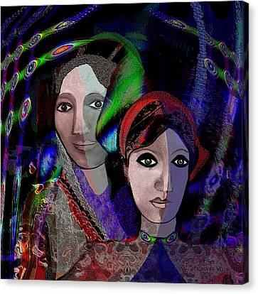 007 - Exotic Ladies  Canvas Print by Irmgard Schoendorf Welch
