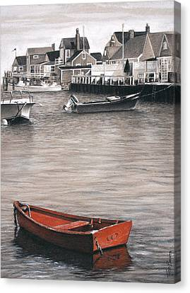 Red Boat Canvas Print by Todd Bachta