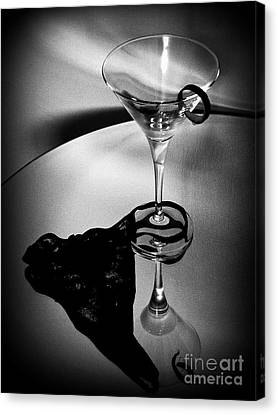 Canvas Print featuring the photograph  Martini Glass Charm by Linda Bianic