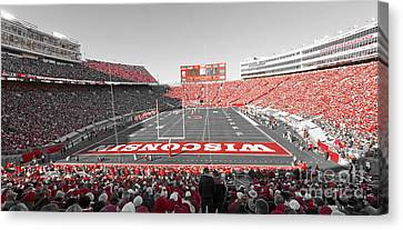 0095 Badger Football  Canvas Print