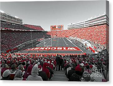 0096 Badger Football Canvas Print