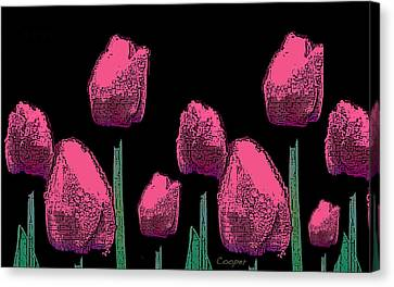 010 Hot Pink Tulips 2a Canvas Print