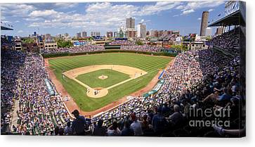 0100 Wrigley Field - Chicago Illinois Canvas Print by Steve Sturgill