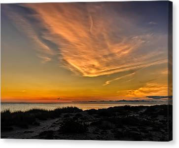 Warm Evening Glow On The Southwest Florida Suncoast Canvas Print by Frank J Benz
