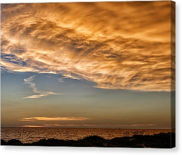Southwest Florida Sunset Canvas Print - Wave Cloud Sunset by Frank J Benz