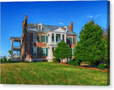 Carnton Plantation Mansion - 1826 Canvas Print by Frank J Benz