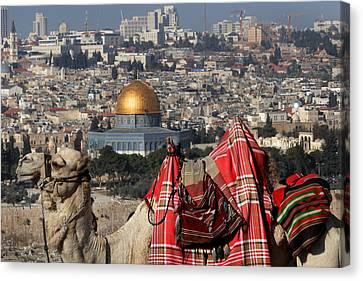 014 Jerusalem Canvas Print by Alex Kolomoisky