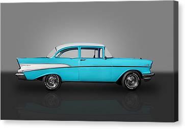 1957 Chevrolet 2 Door Post Canvas Print