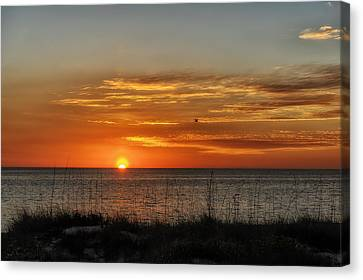 Southwest Florida Sunset Canvas Print - Warm Glow Of The Sun by Frank J Benz