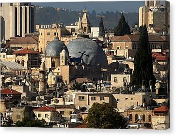 015 Jerusalem Canvas Print by Alex Kolomoisky