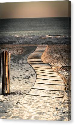 0160 Evanston Boardwalk Canvas Print by Steve Sturgill
