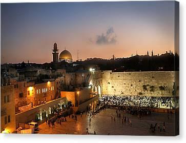 017 Jerusalem Canvas Print by Alex Kolomoisky
