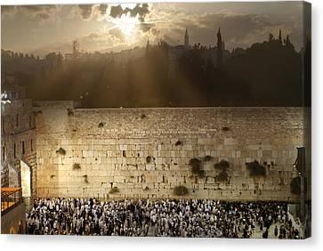 018 Jerusalem Canvas Print by Alex Kolomoisky