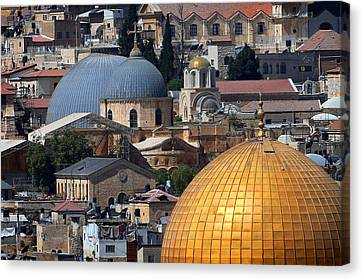 019 Jerusalem Canvas Print by Alex Kolomoisky