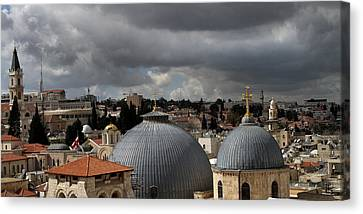 020 Jerusalem Canvas Print by Alex Kolomoisky