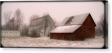 020213-112   Prairie Winter Fantasy II Canvas Print by Mike Davis