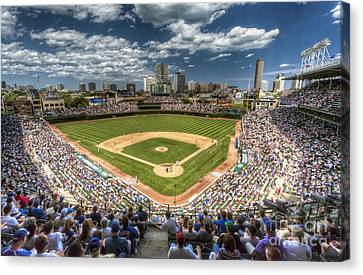 0234 Wrigley Field Canvas Print by Steve Sturgill