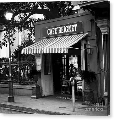 0253 Cafe Beignet Canvas Print by Steve Sturgill