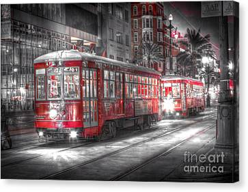 0271 Canal Street Trolley - New Orleans Canvas Print
