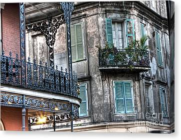 0275 New Orleans Balconies Canvas Print by Steve Sturgill