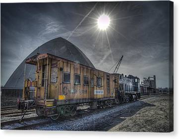 Evansville Canvas Print - 03.21.14 Csx Switcher - Co Caboose by Jim Pearson