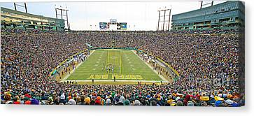 0349 Lambeau Field Panoramic Canvas Print
